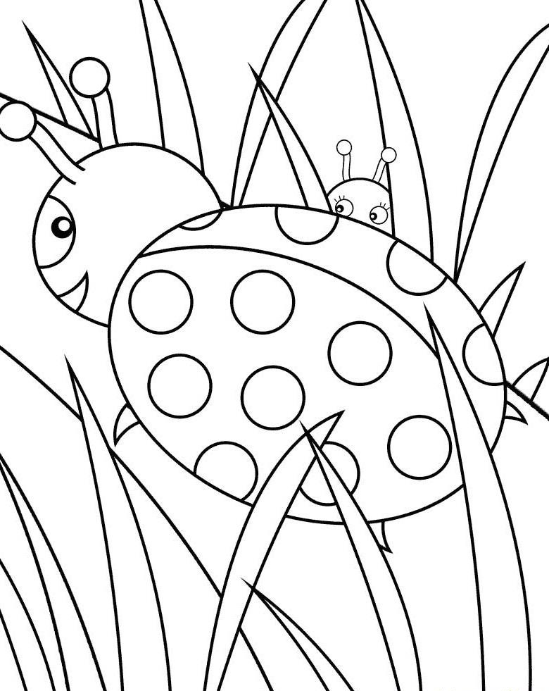 Ladybug coloring #17, Download drawings