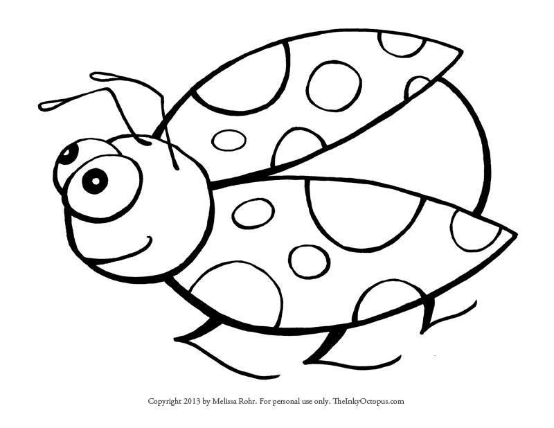 Ladybug coloring #7, Download drawings