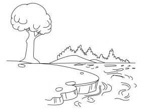 Lake coloring #12, Download drawings