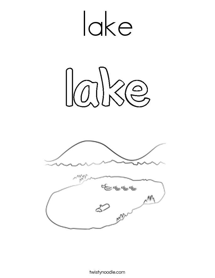 Lake coloring #8, Download drawings