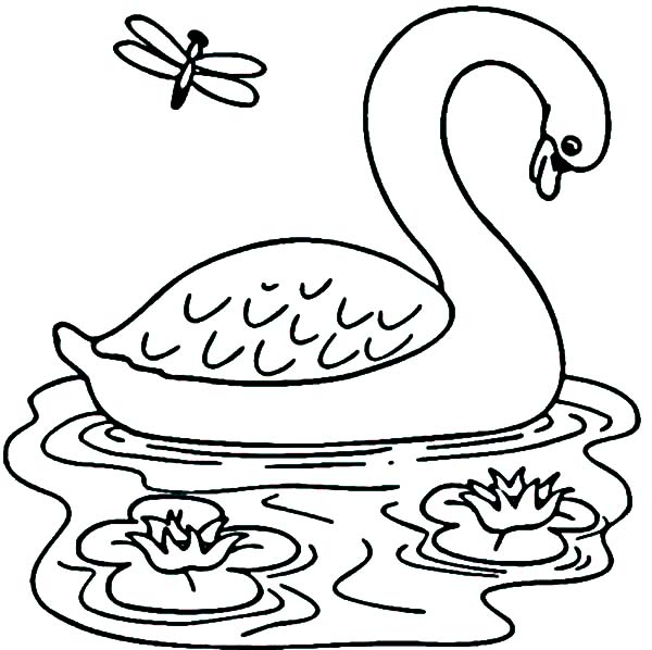 Lake coloring Download Lake coloring