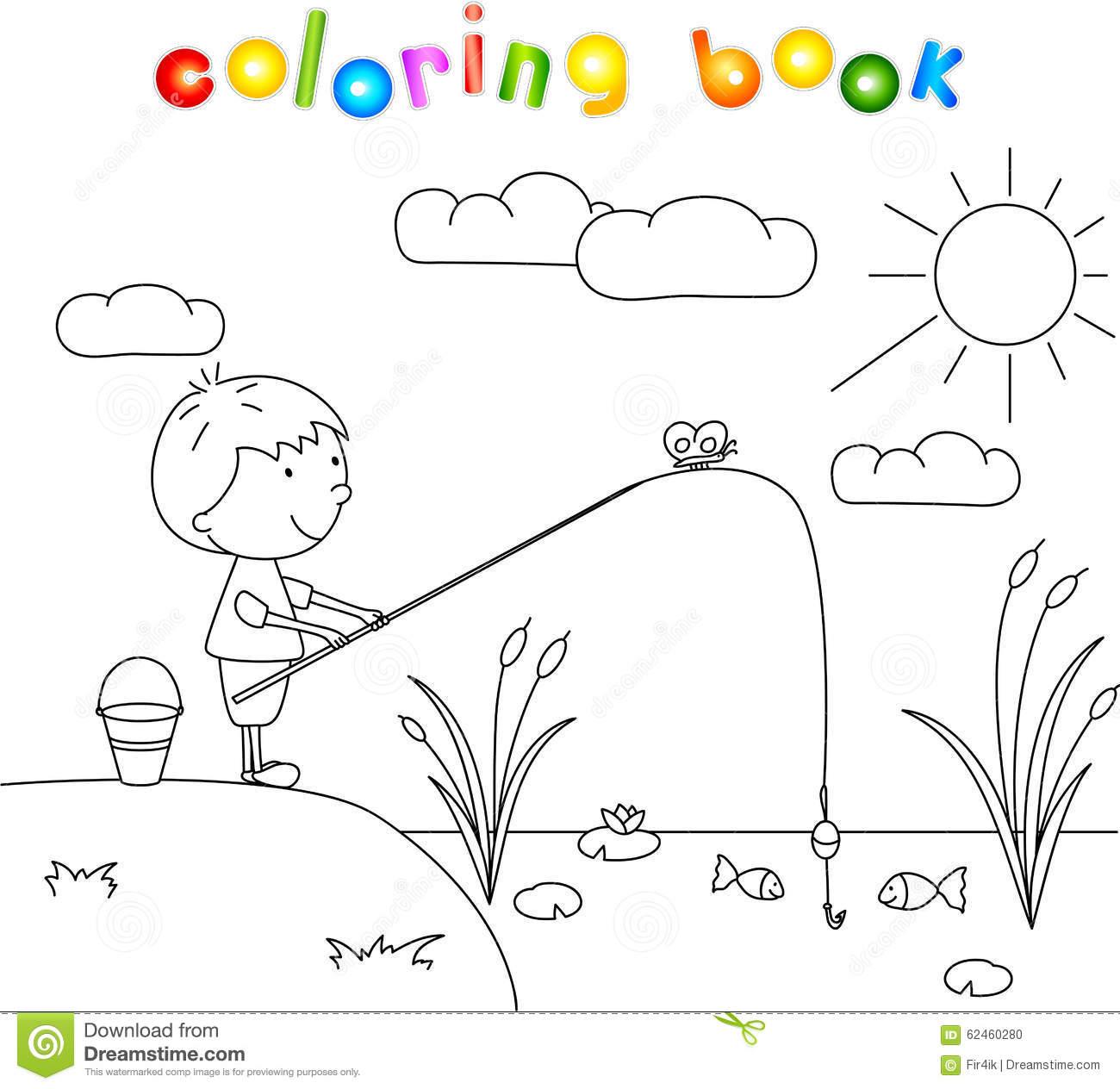 Lake coloring #13, Download drawings