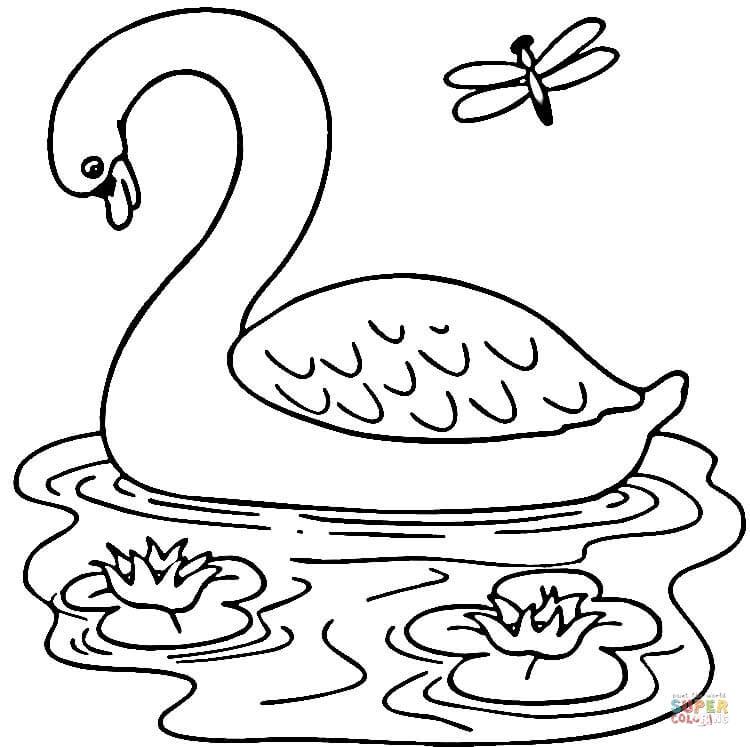Lake coloring #10, Download drawings