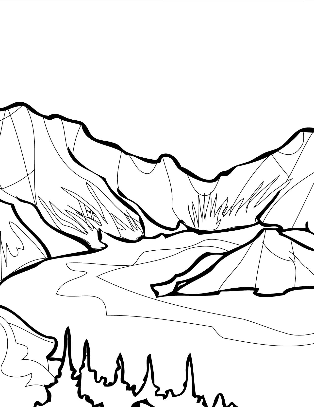 Lake coloring #20, Download drawings