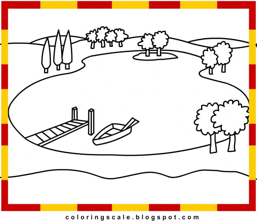 Lake coloring #5, Download drawings