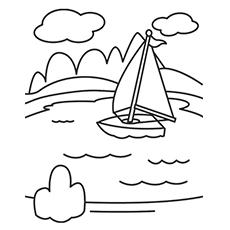 Lake coloring #3, Download drawings
