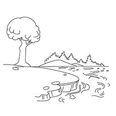 Lake coloring #4, Download drawings
