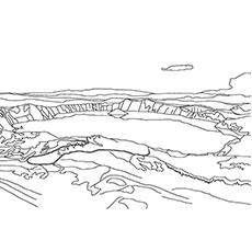 Lake coloring #6, Download drawings