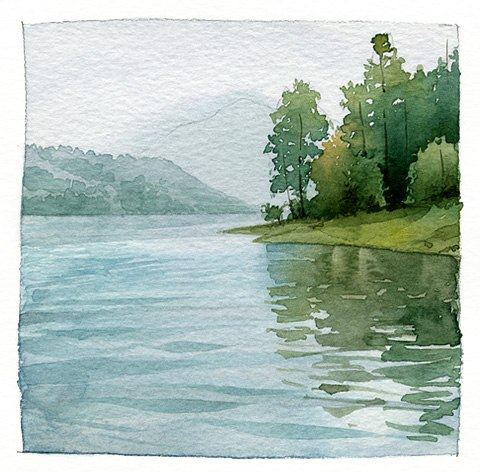 Lake Sunset coloring #20, Download drawings