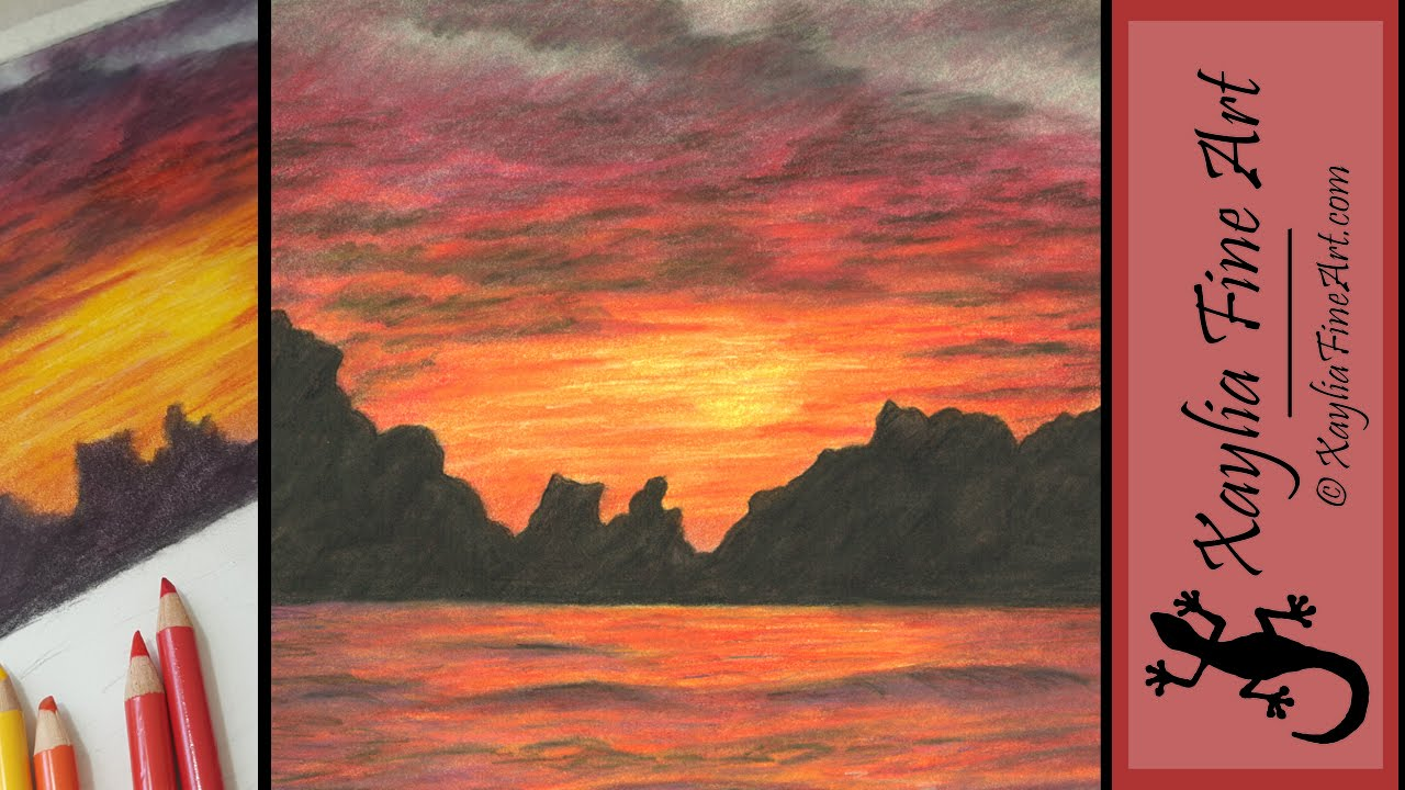 Lake Sunset coloring #3, Download drawings