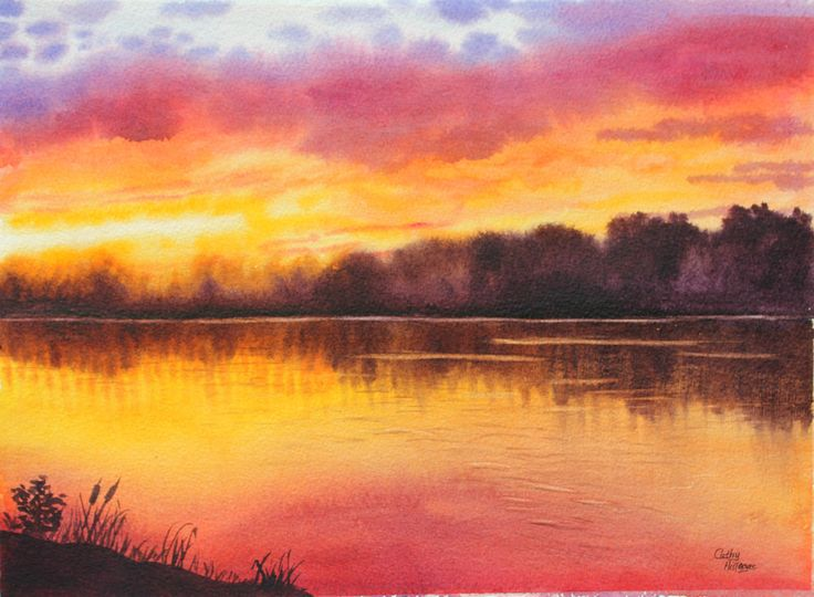 Lake Sunset coloring #7, Download drawings