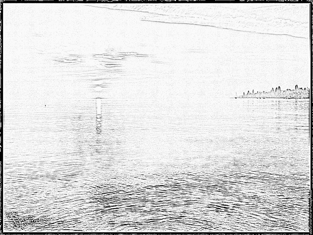 Lake Sunset coloring #9, Download drawings