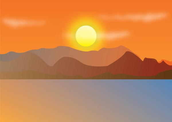 Lake Sunset Svg Download Lake Sunset Svg For Free 2019
