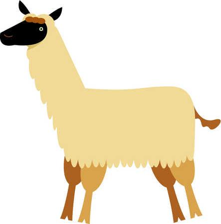 Lama clipart #2, Download drawings