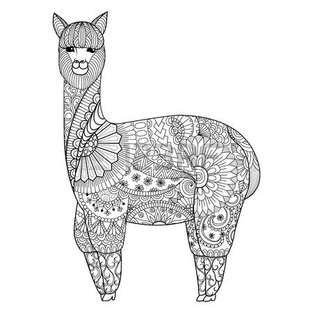 Lama coloring #15, Download drawings