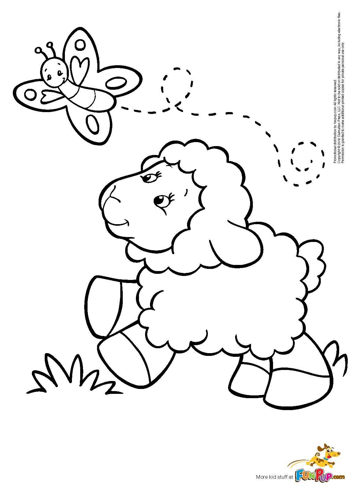Lamb coloring #10, Download drawings