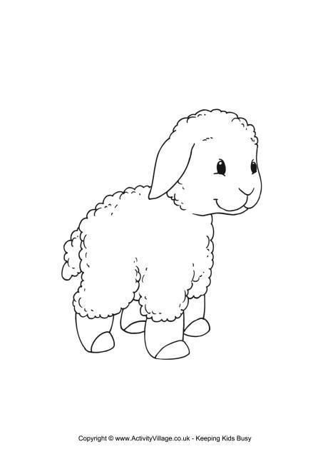 Lamb coloring #16, Download drawings