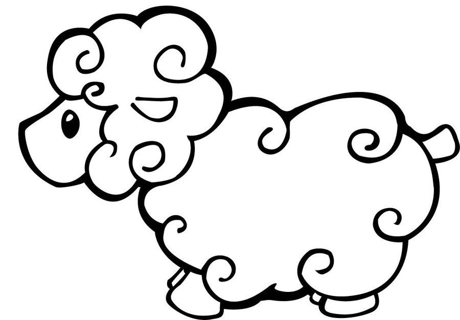 Sheep coloring #10, Download drawings