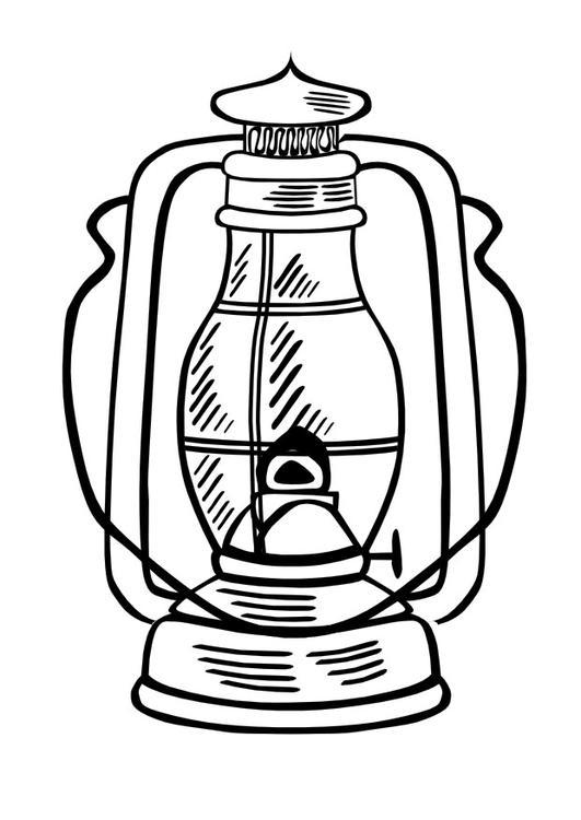 Lamp coloring #2, Download drawings