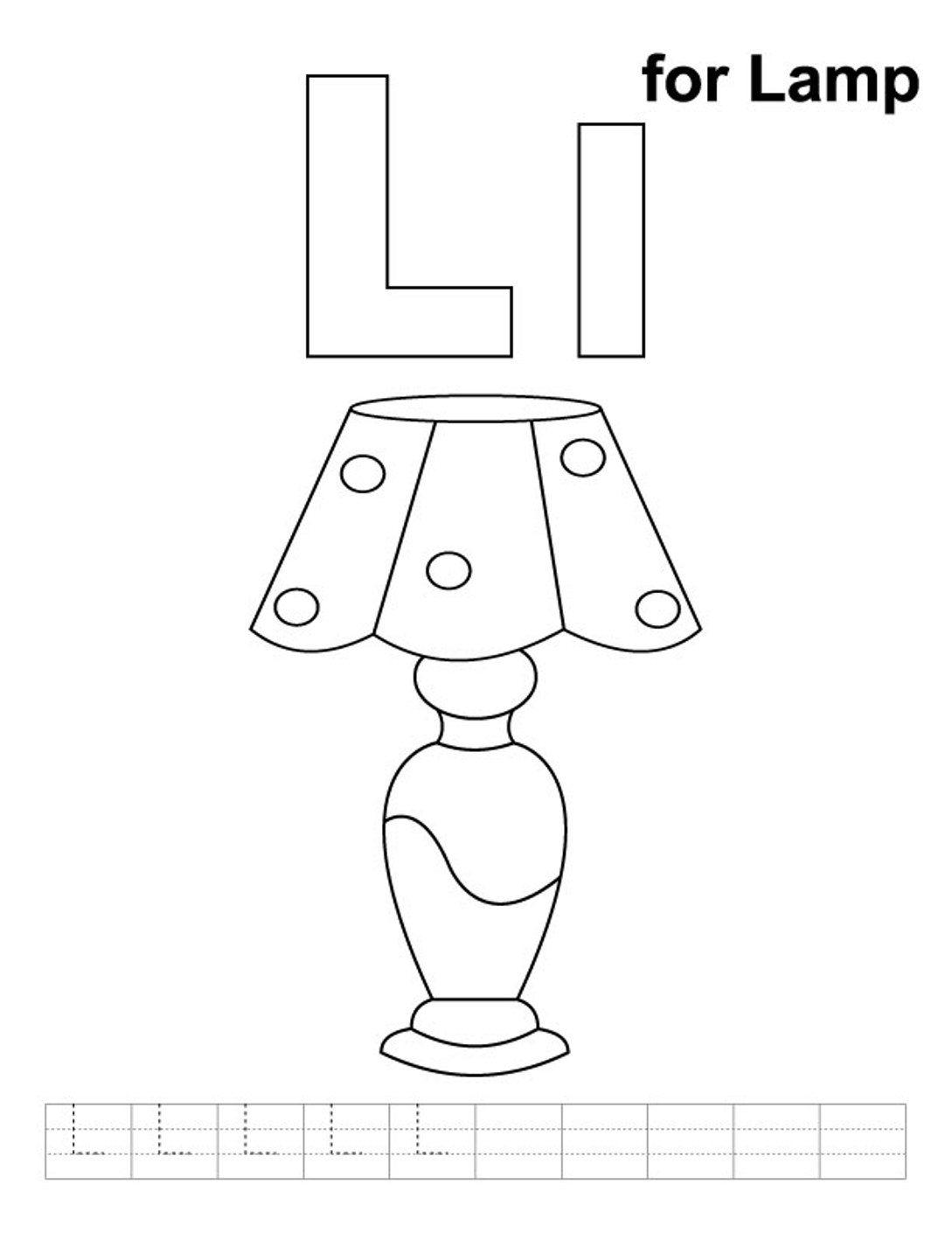 Lamp coloring #6, Download drawings