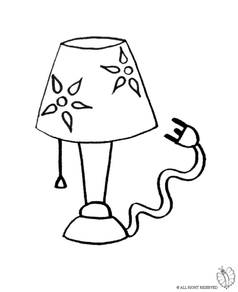 Lamp coloring #1, Download drawings