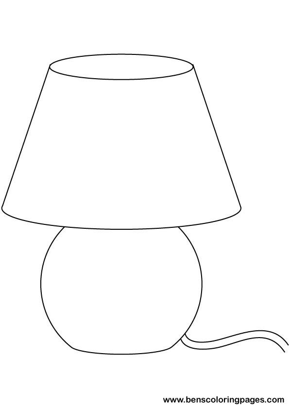 Lamp coloring #18, Download drawings