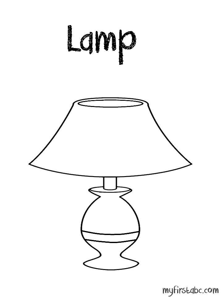 Lamp coloring #9, Download drawings