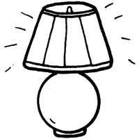 Lamp coloring #13, Download drawings