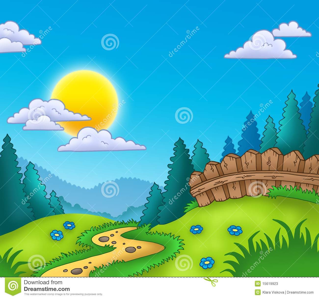 Landscape clipart #11, Download drawings