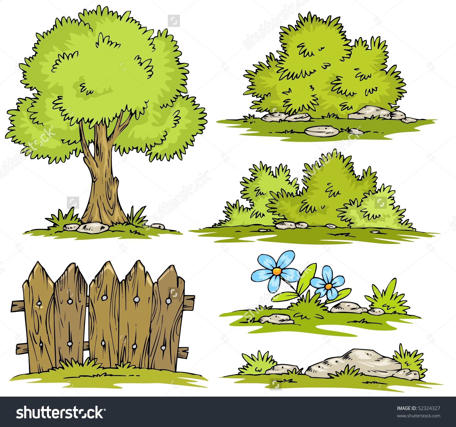 Landscape clipart #3, Download drawings