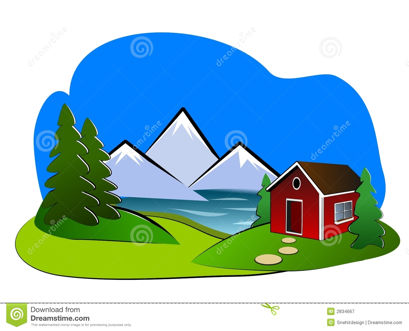 Landscape clipart #4, Download drawings
