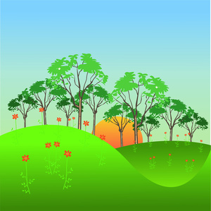 Landscape clipart #1, Download drawings