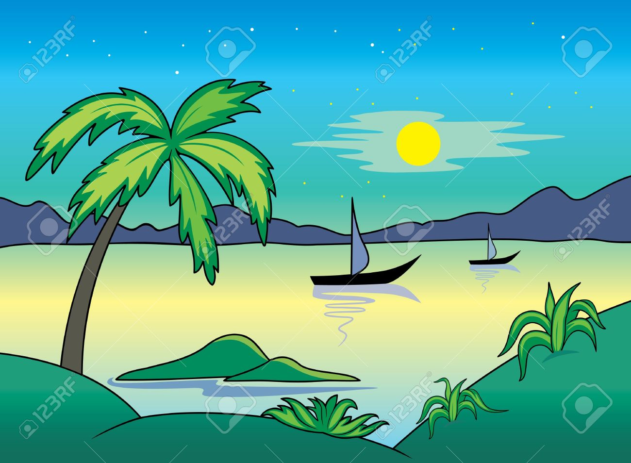 Landscape clipart #17, Download drawings