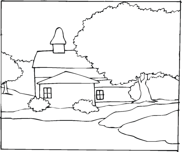 Landscape coloring #7, Download drawings