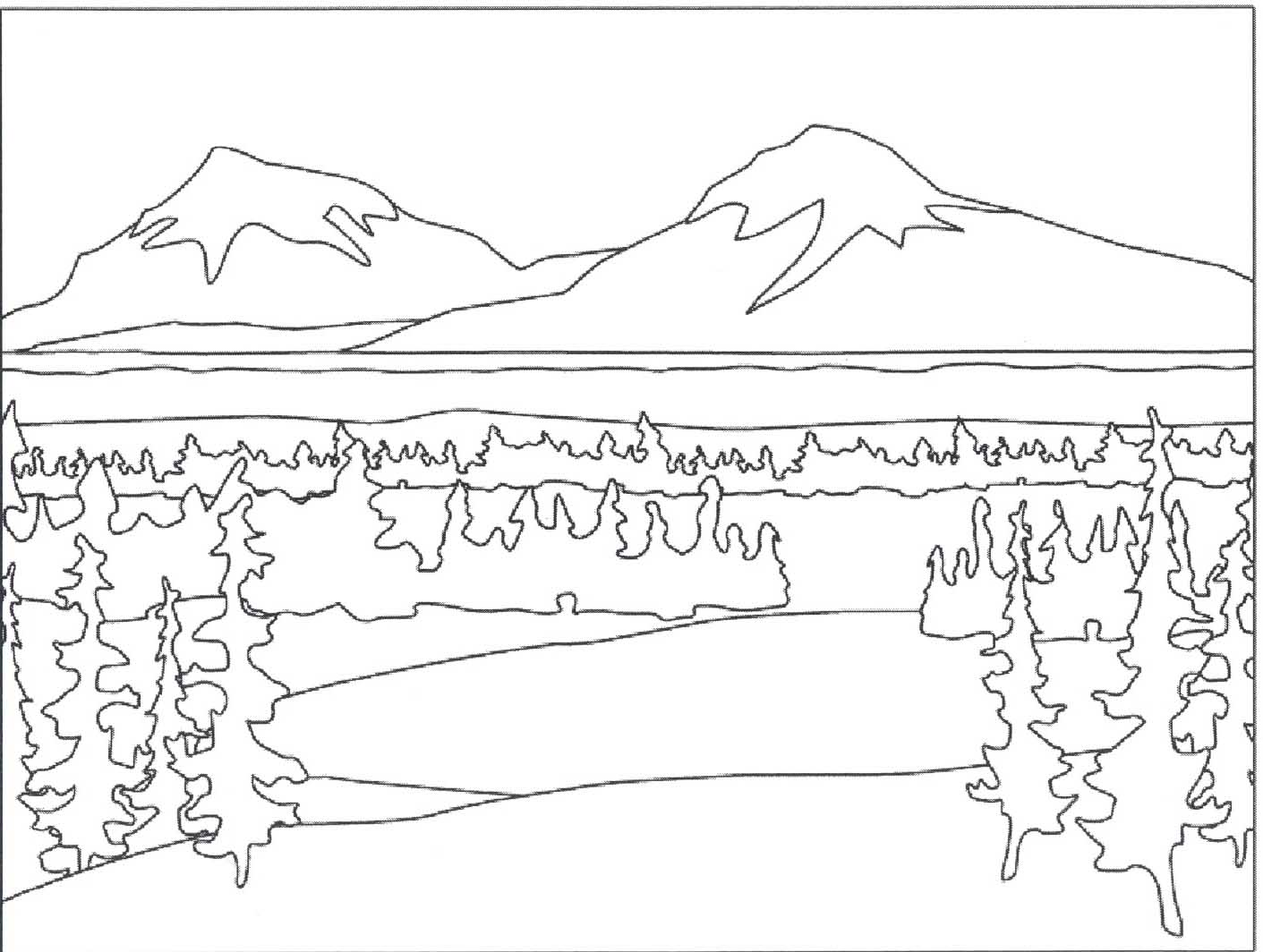 Landscape coloring #8, Download drawings