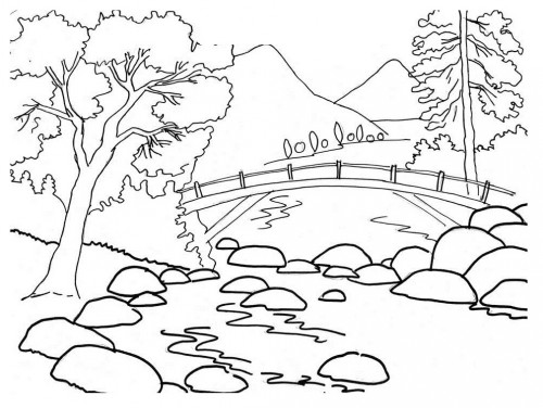 Landscape coloring #20, Download drawings