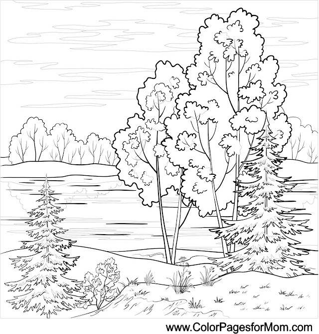 Landscape coloring #17, Download drawings