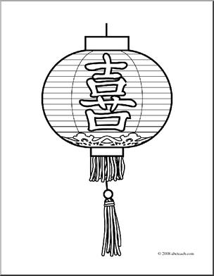 Lantern coloring #2, Download drawings