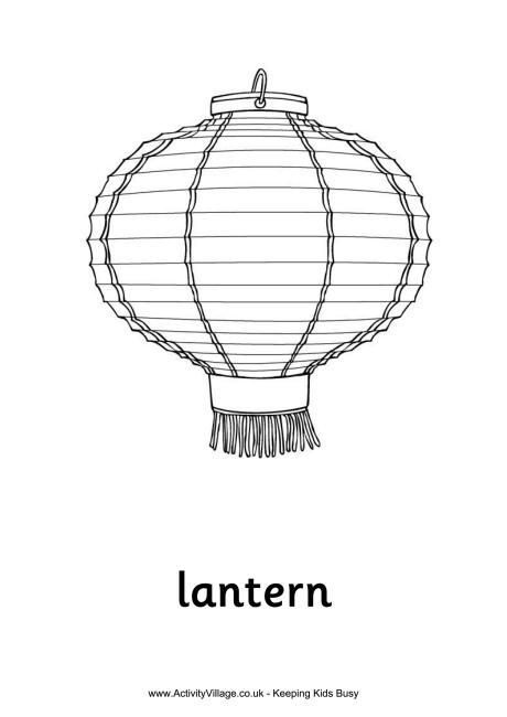 Lantern coloring #8, Download drawings