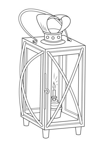 Lantern coloring #7, Download drawings