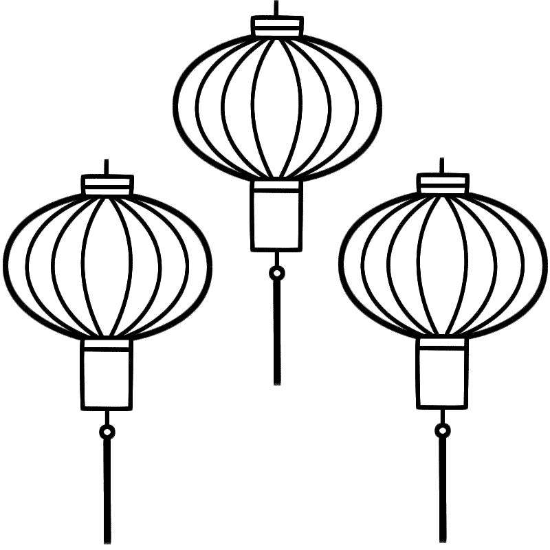 Lantern coloring #17, Download drawings