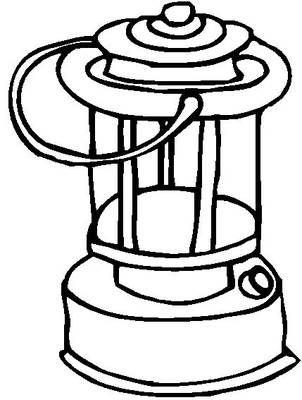 Lantern coloring #1, Download drawings