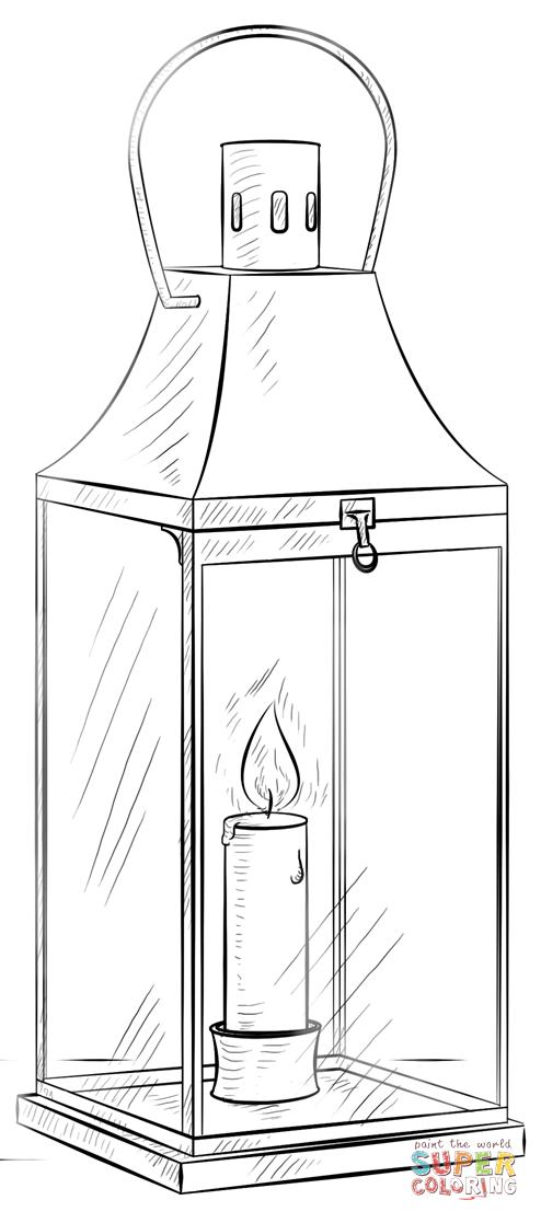 Lantern coloring #9, Download drawings