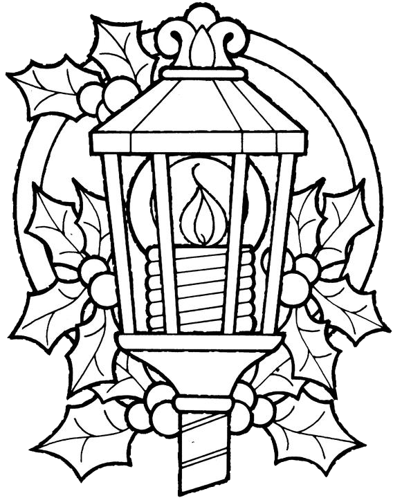 Lantern coloring #12, Download drawings