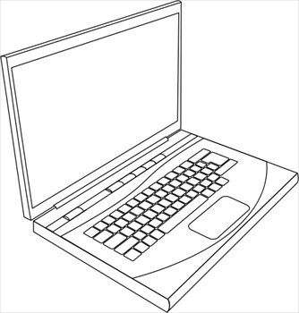 Laptop clipart #13, Download drawings