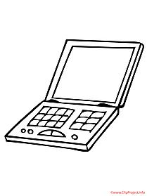 Laptop coloring #6, Download drawings