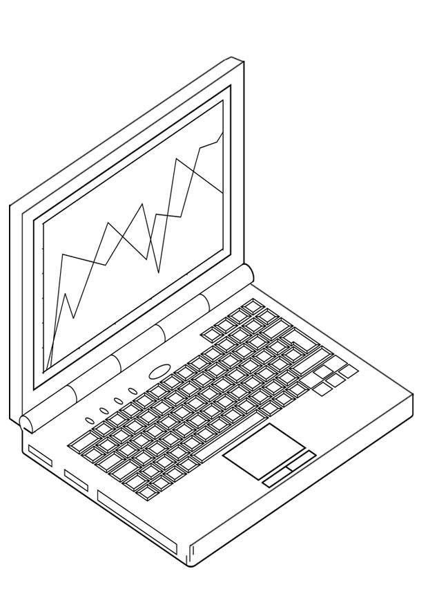 Laptop coloring #5, Download drawings