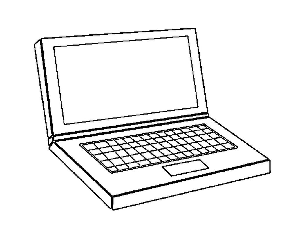Laptop coloring #14, Download drawings