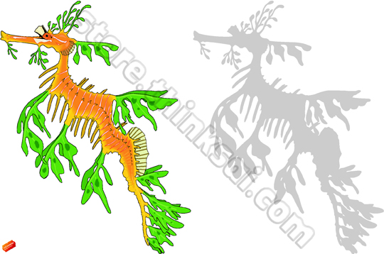 Leafy Seadragon clipart #4, Download drawings