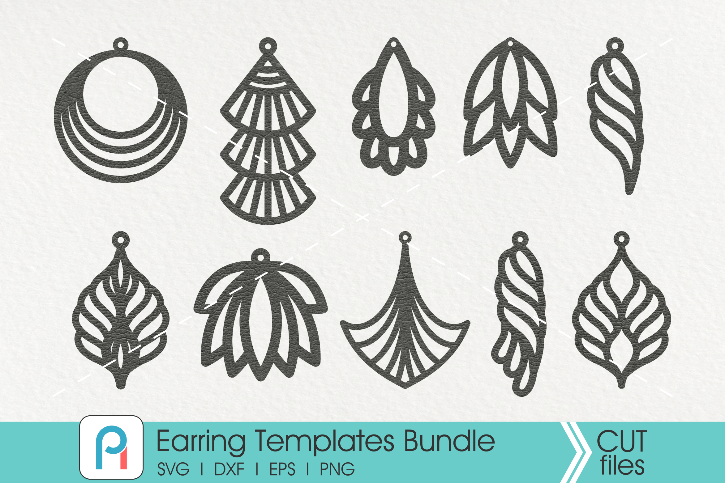 leather earrings svg #195, Download drawings